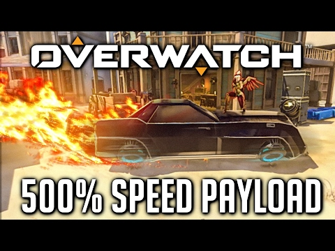 FASTEST PAYLOAD IN OVERWATCH! - 500% PAYLOAD SPEED CUSTOM GAMES