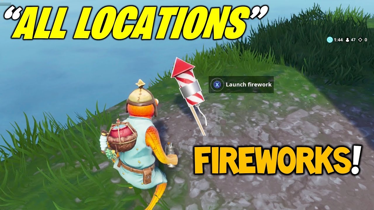 All 3 Firework Locations Launch Fireworks Fortnite Week 4