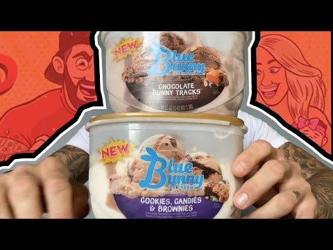 Ice Cream Review: Blue Bunny's Cookies, Candies, & Brownies And Chocolate Bunny Tracks!