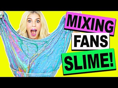 Mixing And Unboxing Fans Slime! (DIY Slime, Fluffy Slime, Crunchy Slime, NO BORAX)