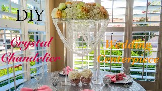 DIY Crystal Chandelier Wedding Centerpiece