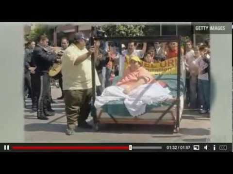 OBESE 1345 lbs Extracted From Apt On Fork Lift To Saudi Hospital Via Cargo Jet Must See