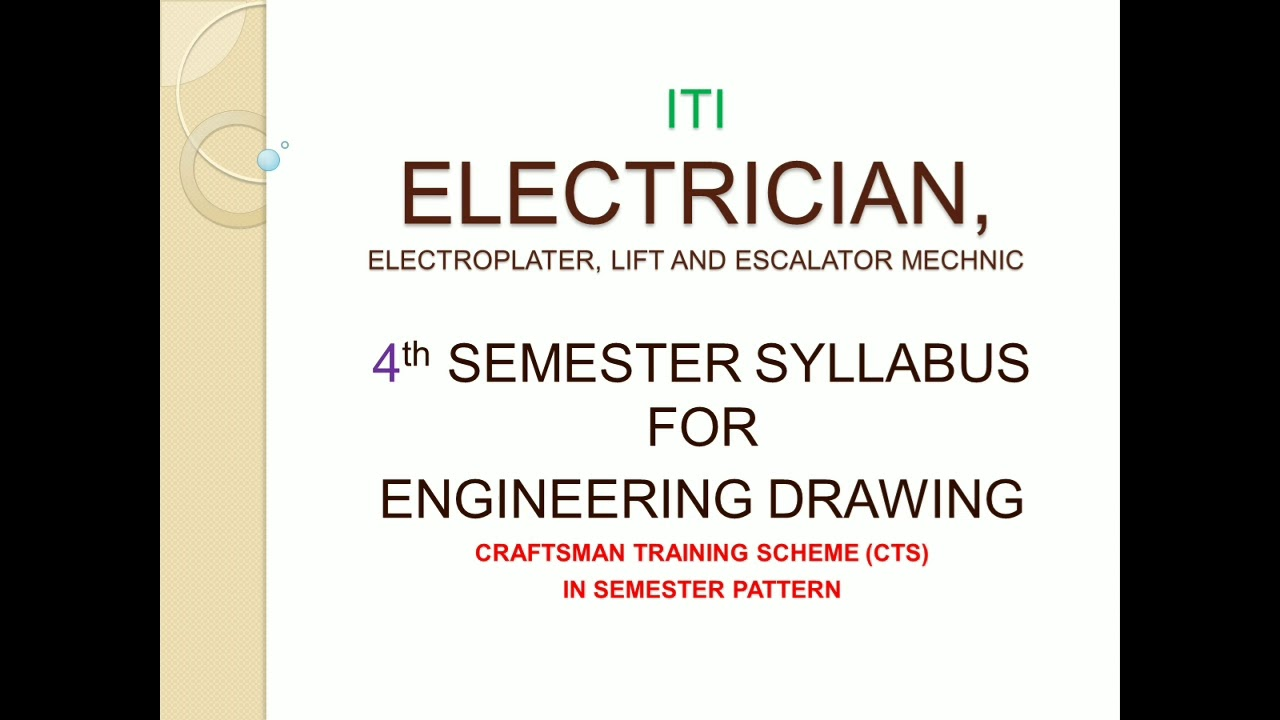 Syllabus Electrician 4th Semester Ncvt Youtube