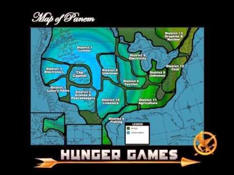 Panem Map Explained YouTube - Hunger games mapped on us