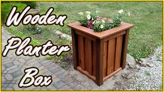 This planter box is made from treated lumber. The final weight came out to be 141 lbs. I used 6 deck boards, 1 - 2x4, 2 - 2x6, and ...
