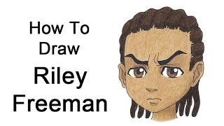 How to Draw Riley Freeman (The Boondocks)