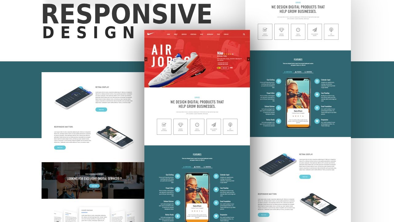 How To Make Responsive Website Design Using Html Css And Media Queries