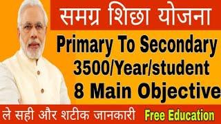समग्र शिक्षा योजना 8 important objective of Samagra Siksha Scheme, free education for student