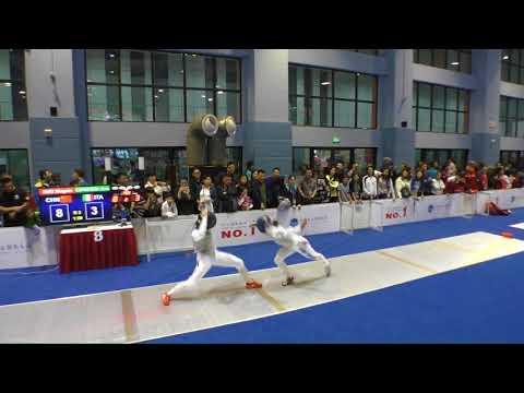 FE 2018 457 T32 15 F F Individual Shanghai CHN GP 8 HUO CHN vs CIPRESSA ITA