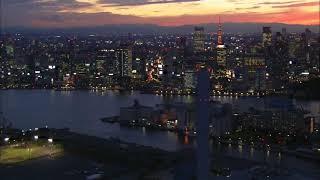Виртуальное путешествие Сумеречный Токио с воздуха / Видео