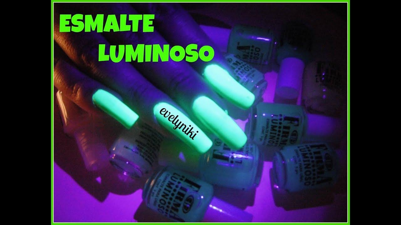 ESMALTE LUMINOSO. uñas que brillan!!! - YouTube