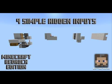 4 Simple Hidden Inputs - Minecraft Bedrock Edition.