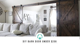 DIY BARN DOOR UNDER $200