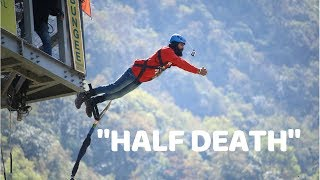SCREAM OF DEATH BUNGEE JUMP IN POKHARA | NEPAL