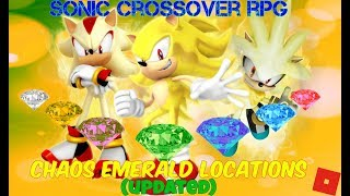 Roblox - Sonic Crossover RP Remake Map - All Chaos Emerald Locations (UPDATED!)
