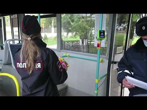 МВД Республики Крым: В керченских автобусах госавтоинспекторы разместили детские рисунки на тему дорожной безопасности