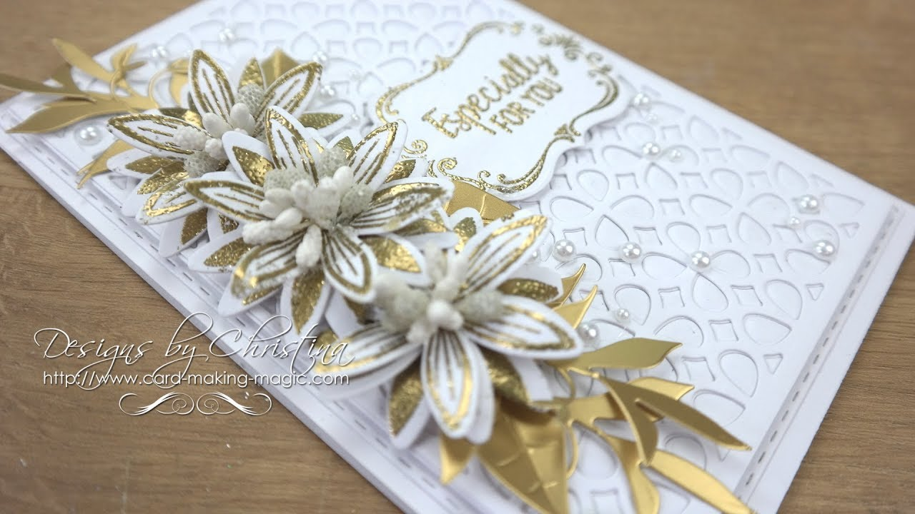 Gold And White Card Boxcomplete Card Box Die Set Youtube