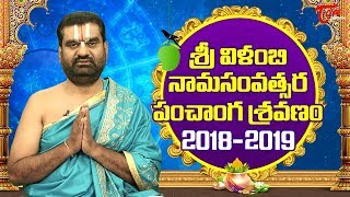 Ugadi Panchanga Sravanam 2018 | Vilambi Nama Samvatsara Telugu Panchangam | Ugadi Rasi Phalalu 2018