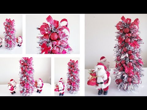 DOLLAR TREE BLING AND SPARKLE GARLAND TREE