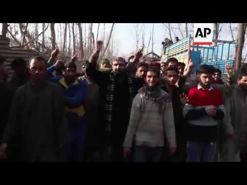 Funeral of suspected Kashmiri rebel