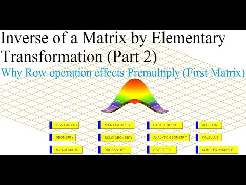 Inverse of a Matrix by Elementary Transformations/Operations (Part 2)