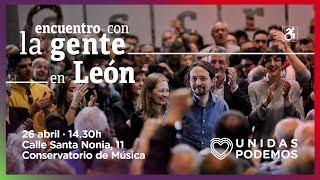 Encuentro de Pablo Iglesias con la gente en León