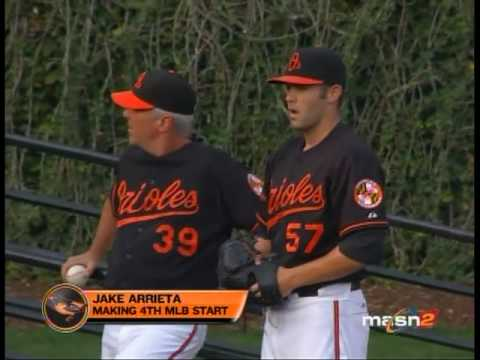 Amber talks with Jake Arrieta about his road to the Major Leagues