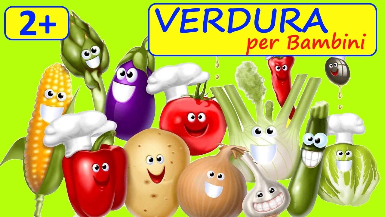 Video per piccoli 🍅 impariamo i nomi di verdura cartoni