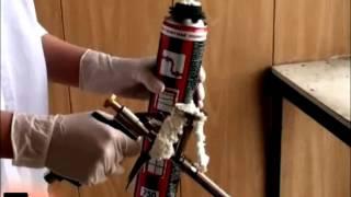 Монтажная пена HOBBY, очиститель - как  применять(Это видео - простая и понятная инструкция по примененю: * пистолетной профессиональной монтажной пены на..., 2012-05-21T18:22:01.000Z)