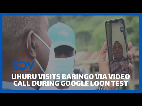 CS Mucheru video calls President Uhuru from Baringo during a test of the Google Loon balloons