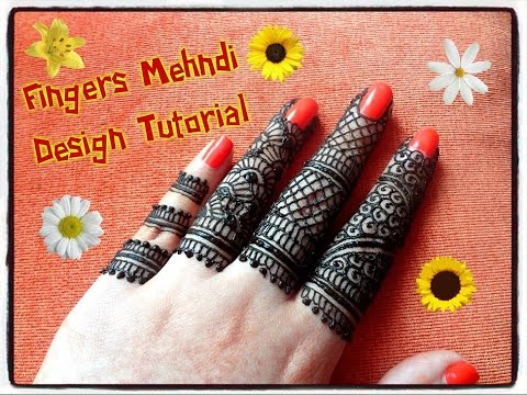 how to apply easy simple intricate henna mehndi designs