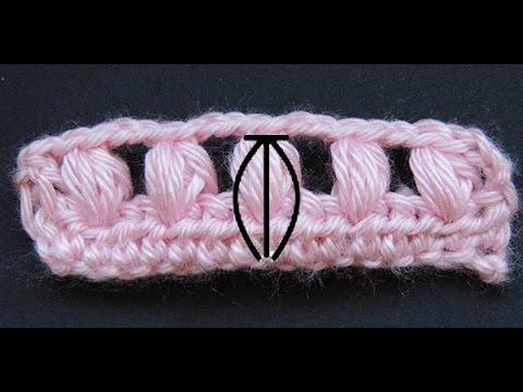 Curso Basico de Crochet : Punto Puff - YouTube