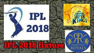 IPL 2018 fixture
