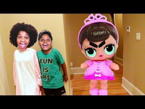 GIANT LOL DOLL vs Shiloh and Shasha! - Onyx Kids