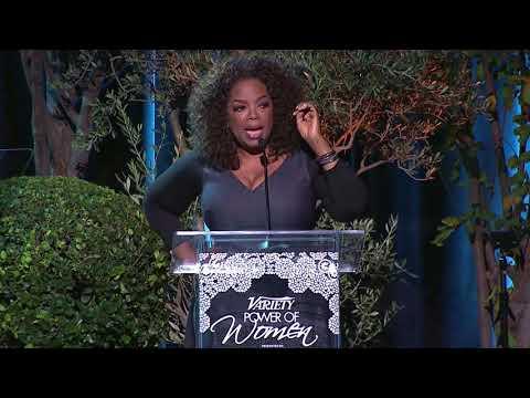 Oprah's Tearful Speech at Power of Women part 1