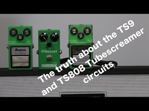 BUSTING THE MYTH About TS9 And TS808 Tubescreamer Circuits