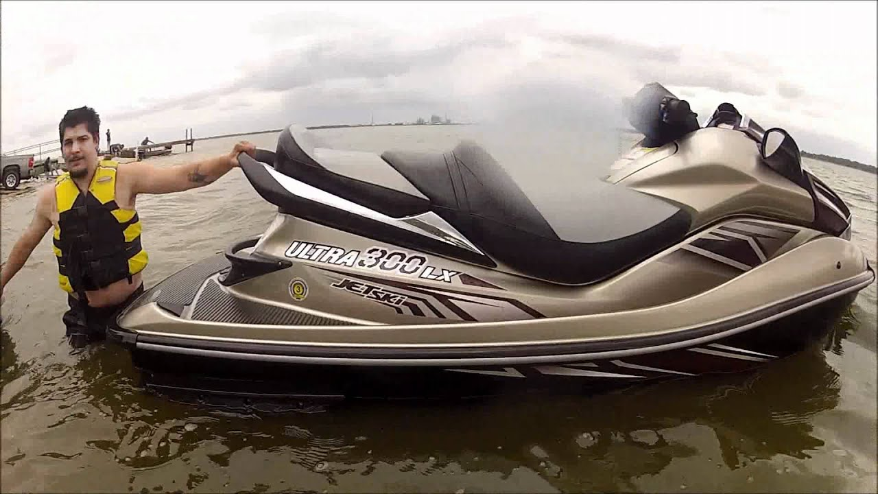 Testing the new 2012 Kawasaki Ultra 300 LX in Lakeland - YouTube