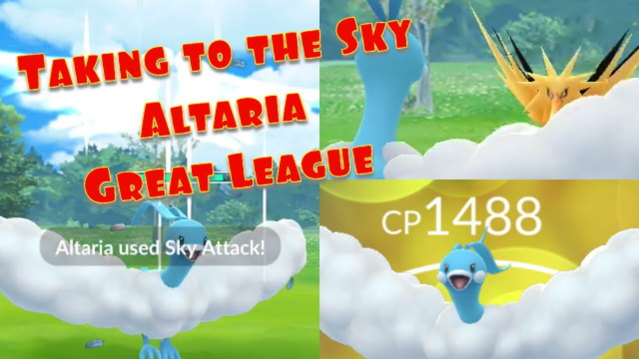 Pokemon Go PvP Great League Altaria Best Moveset and Analysis