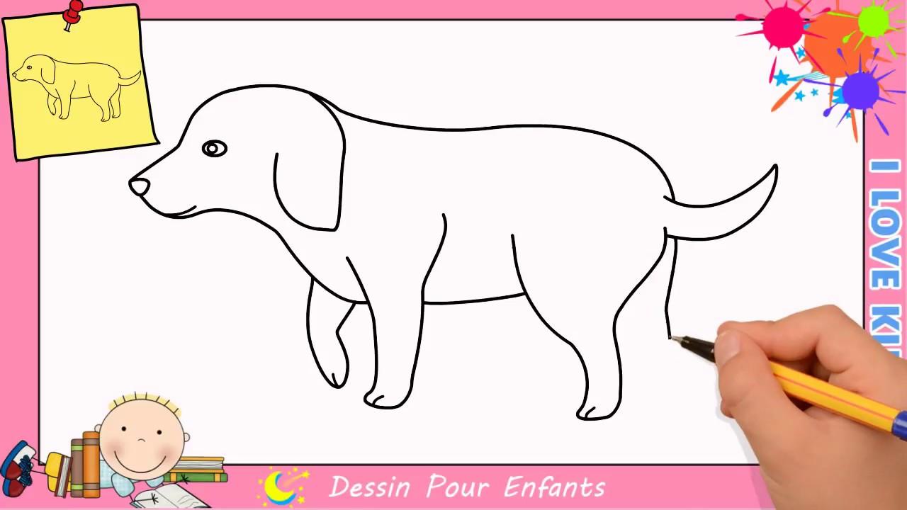 Comment dessiner un chien facilement etape par etape pour enfants 13 youtube - Dessiner des animaux facilement ...