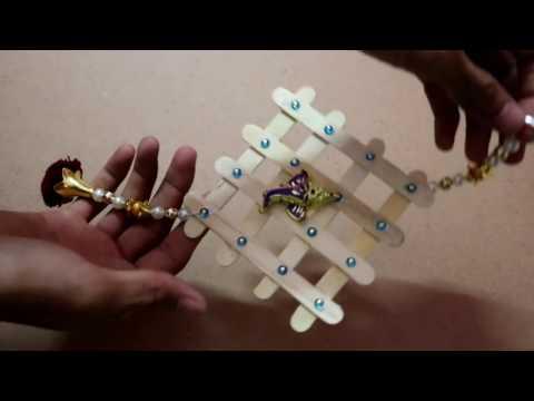 How to make ice cream stick wall hanging :- Bhawana handicraft