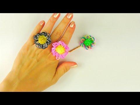 Кольцо из резинок | Заколки из резинок| Плетение из резинок