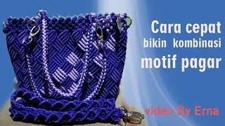 Cantik juga tas motif pagar kombinasi