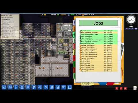 Prison Architect bug - Workers stuck in job queue