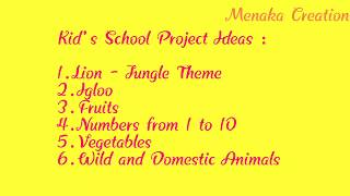 Kids School Project ideas | Simple and Easy Project | Kids Project Ideas |