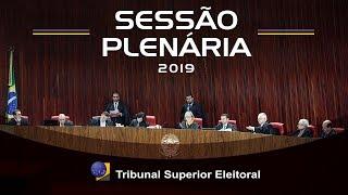 Assista a íntegra da sessão de julgamentos do Tribunal Superior Eleitoral realizada no dia 25 de abril de 2019.