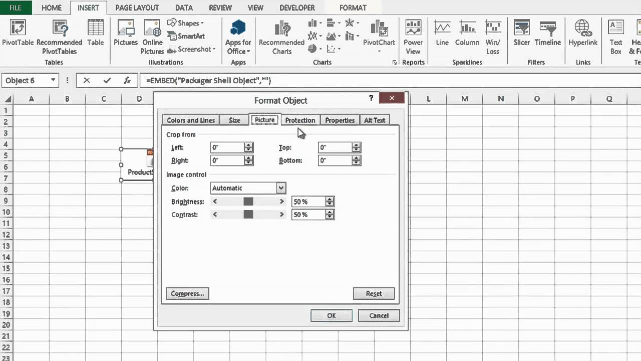 How to Lock a PDF File in a Cell on an Excel Worksheet