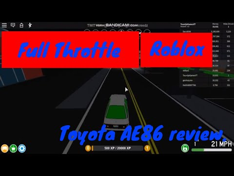 (Roblox) Full Throttle: Toyota AE86 review