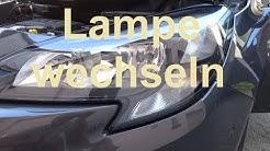 Opel Corsa E Abblendlicht wechseln H7 Lampe Opel Corsa Fahrlicht wechseln Glühlampe