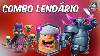 LENHADOR!!! COMBO MORTAL LENHADOR, PEKKA e BRUXA – Estrategia para ser LENDARIO – Clash Royale