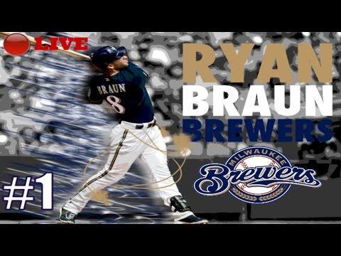 LIVE STREAM - MLB 17 Brewers Franchise - LIVE STREAM - Ep.1